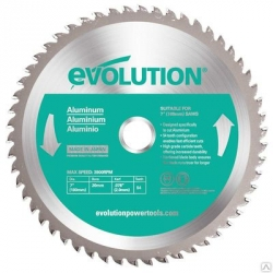 Диск пильный Evolution EVOBLADE180AL 180х20х2,0х54 по алюминию EVOBLADEAL